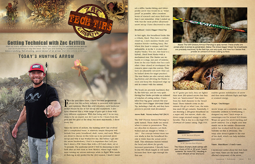 ZAC GRIFFITH MULEY CRAZY ARROW ARTICLE