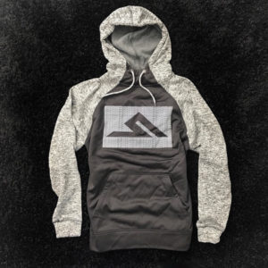 #HASHTAG HOODY BLACK/GREY