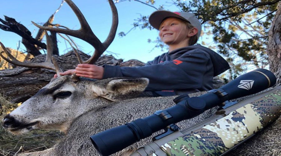 10 YEAR OLD FIRST MULE DEER!!!